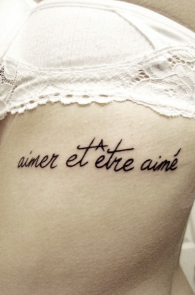 tattoos-get-inked:  I don't know what this means..but I love the font.  it means love and be loved, and i'm so getting this…