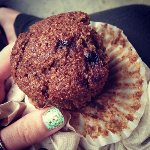 Delicious bran muffin between classes! #lovinlife #grateful #littleblessings