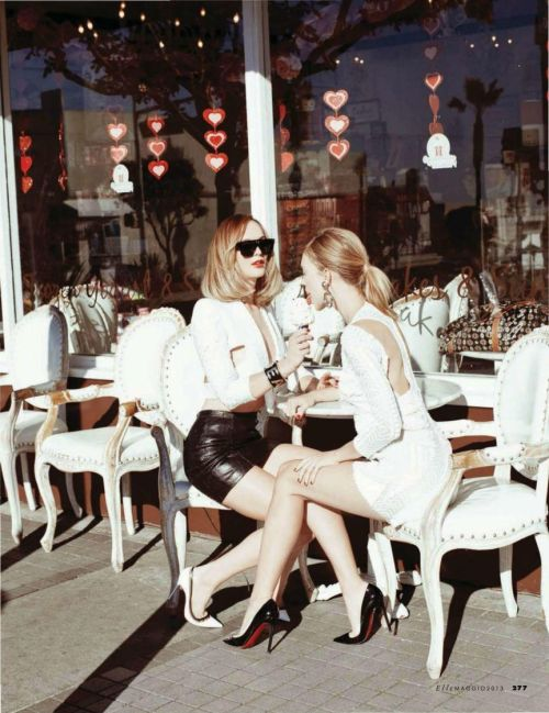 electriccloset:  Heidi Harrington Johnson, Emily Senko @ Elle, Italy, May 2013