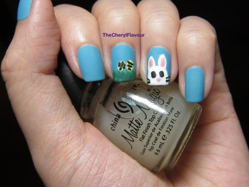 Easter Nails See full post here! Polishes Used: OPI Can't Find My Czechbook OPI Pedal Faster Suzi! OPI Jade Is The New Black China Glaze Lemon Fizz China Glaze Matte Magic