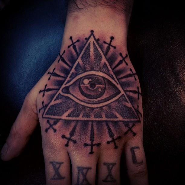 : Manito a ale #tattoo #tattoos #eye #pyramid #hand