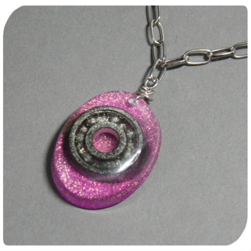 roller derby bearing necklace https://www.etsy.com/listing/151674852/roller-derby-bearing-necklace-glittery by liz dexic, #13