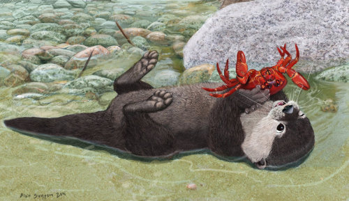 awesomedigitalart:  When Food Fights Back - Otter by *Psithyrus
