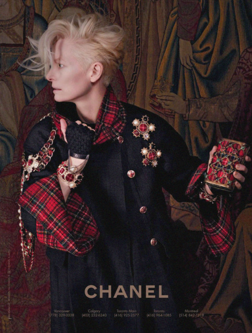 Tilda Swinton photographed by Karl Lagerfeld for Chanel Paris-Edinburgh 2013 Ad Campaign