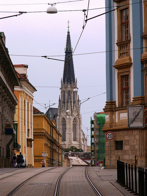 | ♕ |  Olomouc - tramway to Cathedral  | by © Pedro NC