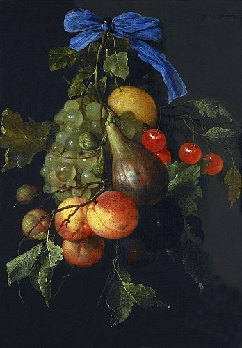 Jan Davidsz de Heem Bunch of Fruit 1651