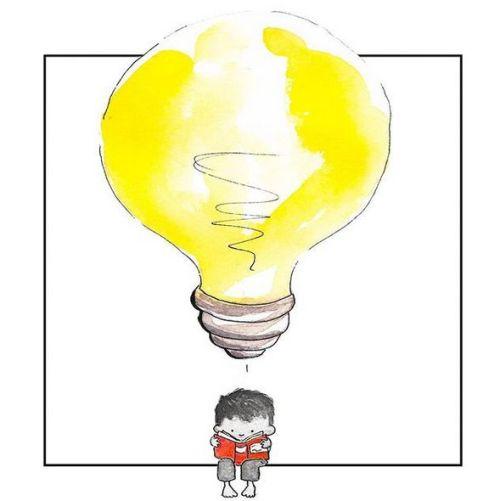Cada lectura nos aporta nuevas ideas (ilustración de Dan Tavis)
