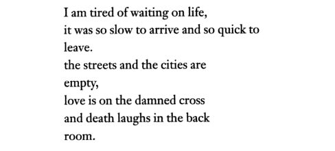 "Charles Bukowski, ""At the Edge"""