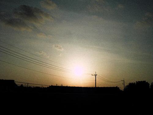 Awake.  April 12, 2021 #day by day #Awake#Sky#Morning#landscape #CONTAX Tvs Digital #photography#japan#2021