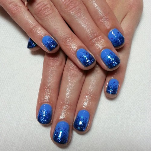 #Cameo by @Illamasqua seems to be everyone's favorite blue lately!  #nails #nailart #nail #nofilter #style #glitter #cute #gradient #Ombre