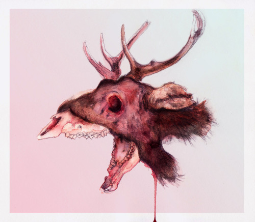 tumblropenarts:   Geric Alonzo / My Deer Pencil, watercolor on paper, Photoshop / 2013.