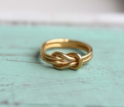 Nautical Stripes / Sailor Knot Ring by diament designs on We Heart It - http://weheartit.com/entry/62003376/via/allegrall   Hearted from: http://pinterest.com/pin/42432421460714840/