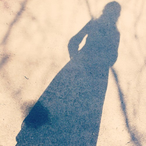 #girl #shadow #road #silhouette #summer #dress #lolita
