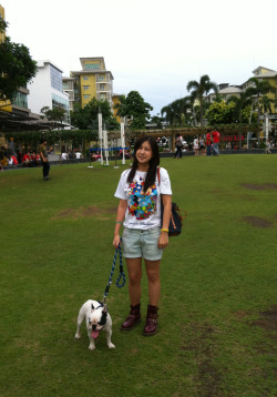 Walking my humanWent to The Fort / Boni High. I had fun walking my human, what a wonderful way to exercise both myself and my human.  Well not just my huma, but humans … coz I had to walk her friends too! LoLLooks like I have my work cut out for me.
