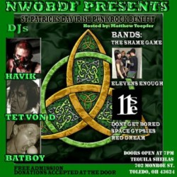 #StPattysDay #punkshow #toledo #ohio #headliners #ElevensEnough