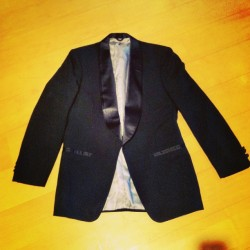 Men's logo lined CHRISTIAN DIOR smoking jacket, size 41 Long. $186. #dior #vintage #god (at JLINSNIDER)