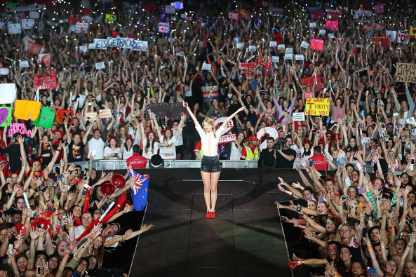 Image result for taylor swift fans red tour