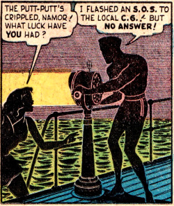 Sub-Mariner Comics #28. Art by Bill Everett.