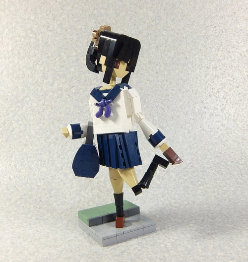 legoexpress:  Statue/ High school girl. Part2 by LEGO DOU Moko on Flickr.