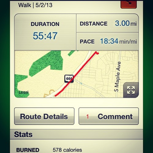 This concludes your #walkingspam with Jason! #mapmyrun #walking #exercise #fitness #backonthepath #spring #feelingood