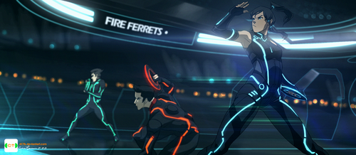 michaeldantedimartino:  TRON: Legend of Korra by *dCTb This is amazing!