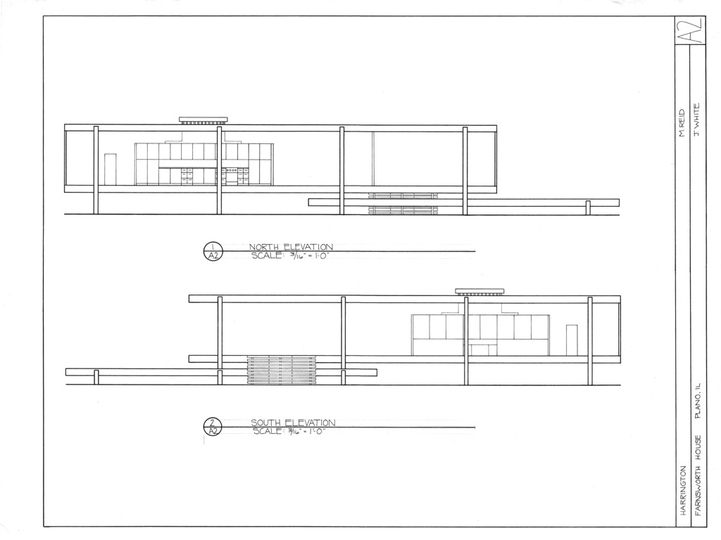 architectura the farnsworth house by mies van der rohe was. Black Bedroom Furniture Sets. Home Design Ideas