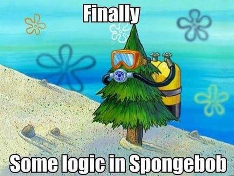 som3on3h3lpm3:  Some Logic in Spongebob | via Facebook on We Heart It - http://weheartit.com/entry/57547121/via/gabbielovesmike   Hearted from: https://www.facebook.com/