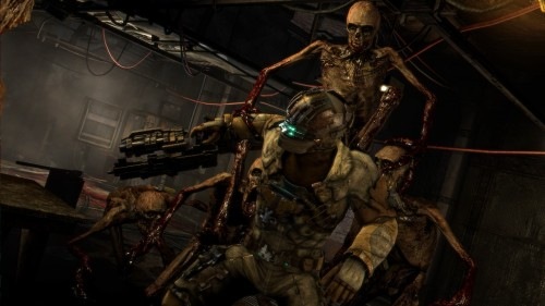 "theredherb:  ""Gruesome"" Dead Space 3 DLC Slated for March Dead Space 3, Visceral Games' latest big budget horror blockbuster, has crept its way into stores today and the buzz is good — though the insidious mixture of microtransactions and dull writing is scaring fans in their own way, but I'm not here to condemn games I haven't played yet (I'll save that for the YouTube comments section). We're here because EA has announced new downloadable content for the game that's promised to be especially ""disturbing,"" even for the Dead Space franchise — and this is coming from the same series that introduced exploding slug-babies as an enemy. Dubbed Awakened, the story add-on takes hapless engineer Isaac Clarke through ""the franchise's darkest chapters as the Necromorph battles become even more gruesome and terrifying than ever before.""  I'm guessing massive exploding slug-babies. Awakened releases sometime in March for all systems Dead Space 3 graces, priced at $9.99 (800 MS)."