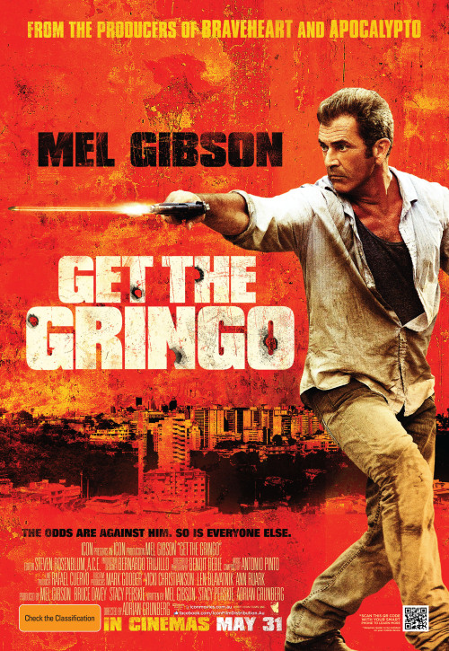 #135 Get the Gringo (2012) Dir. Adrian Grünberg  Not really a big fan of Mel Gibson the racist, alcoholic and jew-hater but I am a big fan of Mel Gibson the movie star. I think he's one of the most charismatic and watchable stars of his generation. I grew up watching old battered copies of Lethal Weapon, Mad Max, Conspiracy Theory, Maverick, Payback…the list goes on. So anyway, while this film has failed to rise above the tarnished reputation of it's star I've had my eye on it knowing that the intention behind it seems to be Mel Gibson going back to his roots and giving his audience what they want - Mel the action star. It does that in spades, but the film itself is nothing more than a bland, predictable and forgettable prison-thriller. Still, at least Mel can still flash that million-dollar smile.