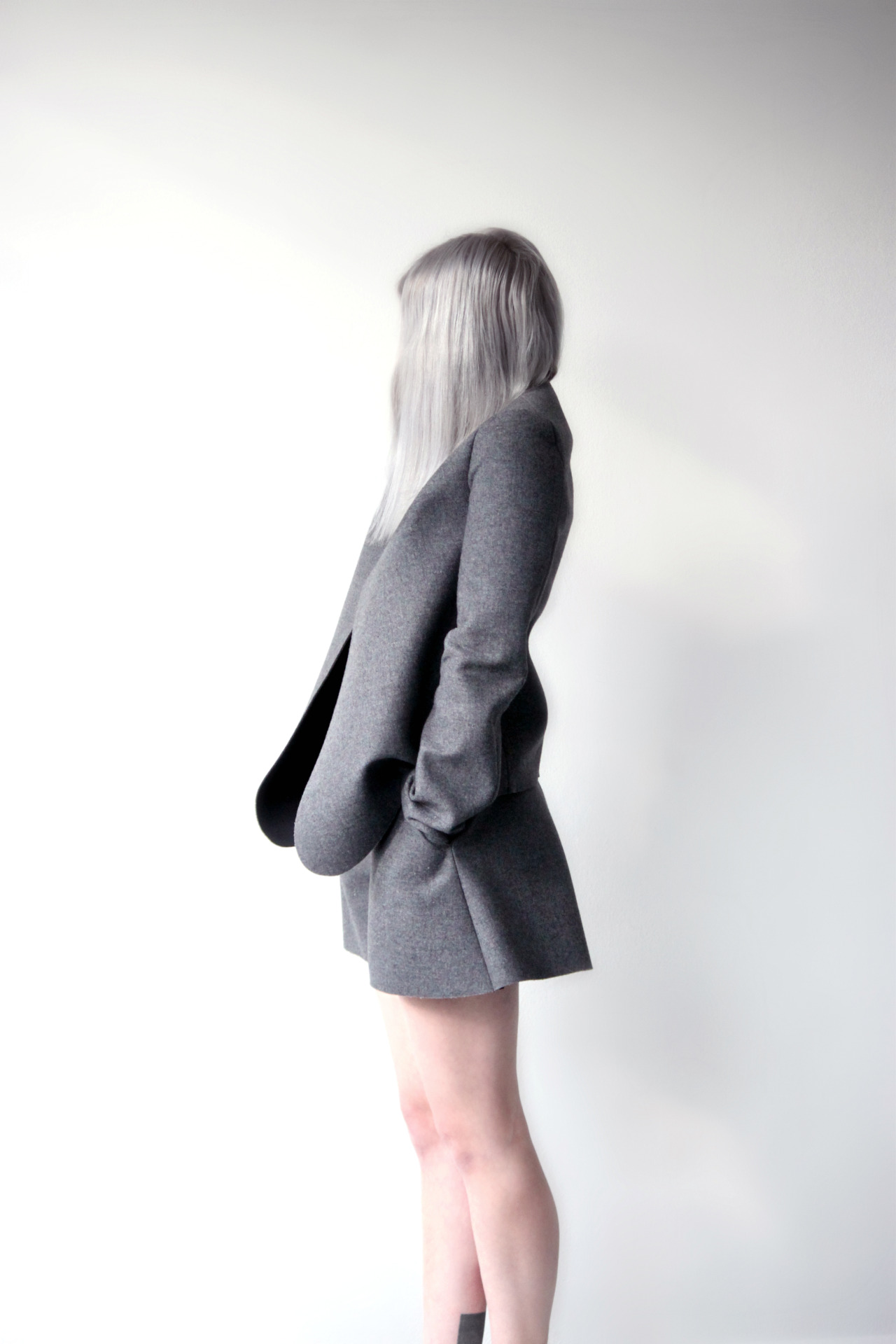 showstudio:  shorts and jacket J.W. Anderson