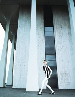 "stormtrooperfashion:  Aymeline Valade in ""A Graphic Study"" by Emma Summerton for Vogue Japan, February 2013"