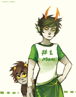 homestuck My art karkat vantas kanaya maryam The Sufferer The Dolorosa angry mom gonna kick some butts with modern outfits?? I just wanted to draw the mom shirt these tags are just for my archive