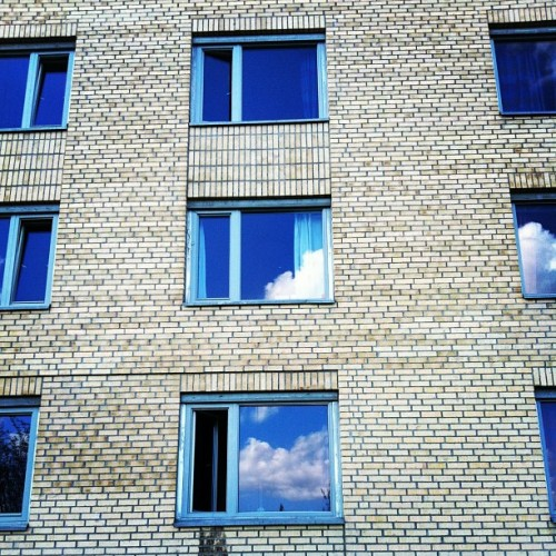 #summer #studentby #reflection #sky #building