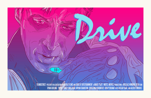 Variation of my Drive poster, with credits. (@mctherrien)
