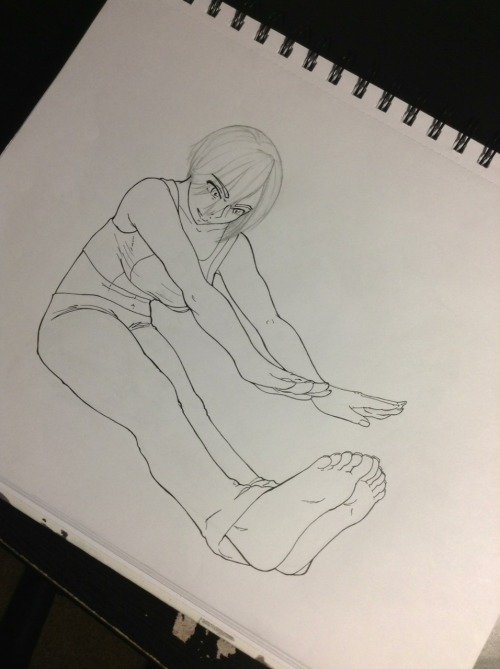 zoveninprogress:  Inked…lines were too sketchy. Leaving her hair in pencil. I don't use lines for hair just guidance. Getting ready to scan and pick a palette. Finally all got my Mac and everything is working right.  Finally, she's back! Hope everything with you is okay, now. You were scaring me with all that health talk there! :o