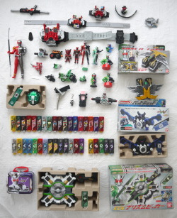 anarchism-in-the-house:  My collection Masked Rider W series.
