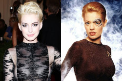 Met Gala: Anne Hathaway's blonde 'do straight out of Star Trek & 9 other red carpet lookalikes!