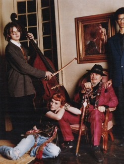 An image of Karen Elson with some spiffed up friends from New Orleans that is certainly a lot more bohemian and relaxed than Karl's typical work. The image photographed by Bruce Weber has an ease about it that carries on throughout the story that it was taken from; 'Come On Down To Nawlins', published in W Magazine's April 2008 issue.