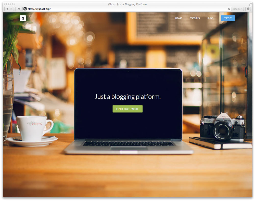 Ghost, a platform that focuses on blogging only. Very much like the idea behind it. Curious about testing their UI/UX. Too bad I am not writing about design quite yet…