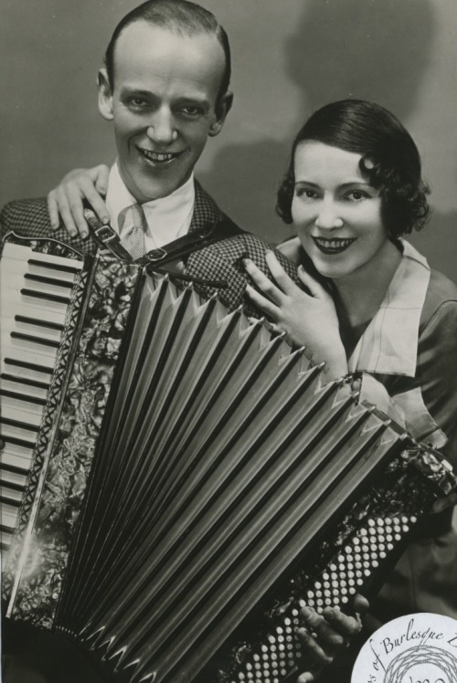 burlyqnell:  Adele & Fred Astaire: Vintage 8x10 photo Before Fred Astaire was a Hollywood dance icon, he and his older sister, Adele, had a very popular vaudeville act.  Adele was both a singer and a dancer, and was often thought to be the more talented of the two siblings.  In 1932 Adele retired from show business when she married Lord Charles Arthur Francis Cavendish and moved to Ireland to reside in Lismore Castle.  Lord Cavendish died in 1944, and in 1947 Adele married Col. Kingman Douglass, and Air Force Officer and banker.  Douglass died in 1971, and 10 years later Adele would die of a stroke.