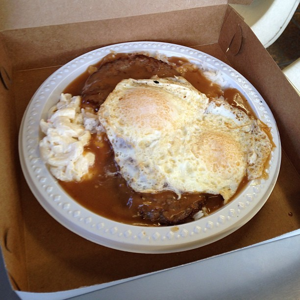 what you know about that Rainbows Drive inn Loco Moco? #nostalgia #hawaiian #food #instafood #instagood #potd