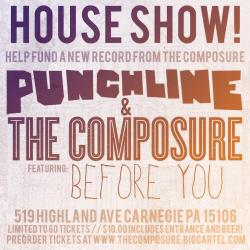 Tonight! House show with @punchlion @thecomposure and @beforeyourock.