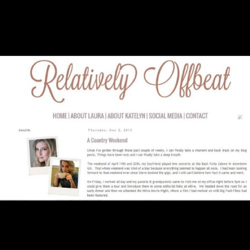 The lovely and talented @teekuh worked her design magic to make www.relativelyoffbeat.com look pretty! So excited to share.