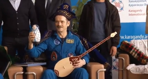 "max-peck:  ""Does it look like me?""- Chris Hadfield on the matryoshka doll gift given to him by the Kazakhstani people."