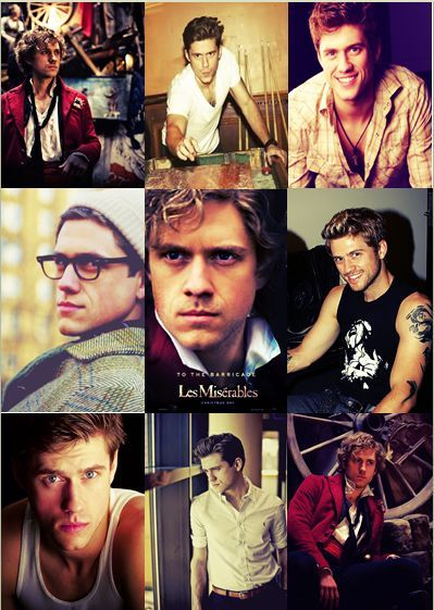 my favourite cast member of les mis - Aaron Tveit as Enjolras