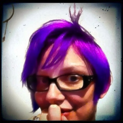 New hair, front view. #haircolor  #mlpfim  #amethyst  #anime
