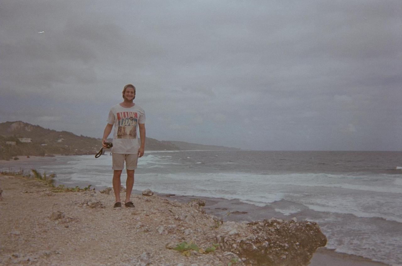 A few shots from Cody's disposable camera on a trip to Barbados. That, to me, is the fun thing about film. You forget sometimes what you take pictures of. And when everything is developed a couple months down the road, its a good reminder of some little details you could have forgot about on a trip. We didn't even have a car on our trip, and this friendly couple from San Francisco invited us on a day trip around the island with them. We had to pile 4 of us, plus surfboards, into this little buggy. There was a lot more to experience on that beautiful island, and thanks to new friends we got to check it out. Traveling is the coolest, and photos help you remember those good times.