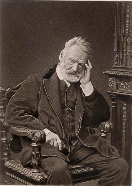 19thcenturymenposing:  Victor Hugo in his usual pose ca. 1875. What a hunk.