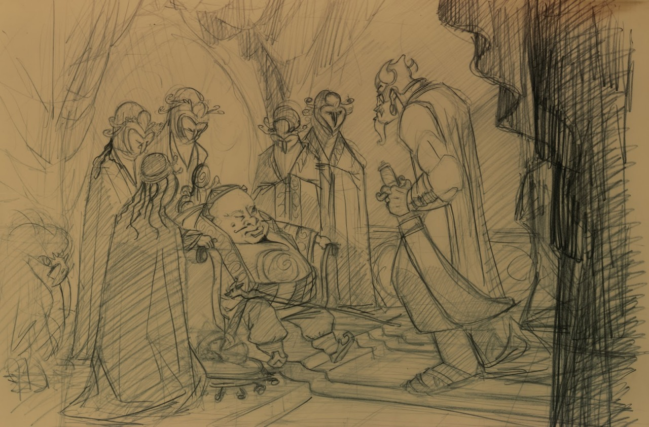 Early Mulan visual development
