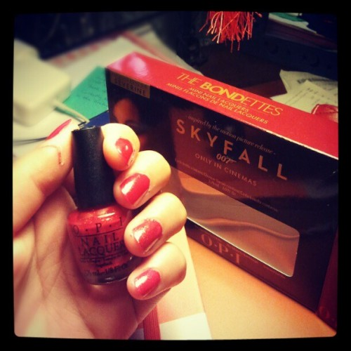 #OPI The Bondettes mini collection - The Spy Who Loved Me (#red) #accessories #Nail #Christmas